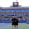 Sam and Albert Lee on court at the US Open